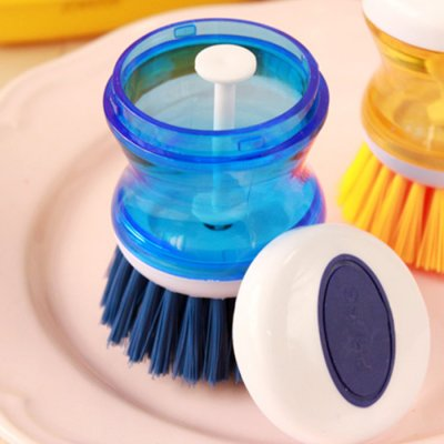 Refillable hand dish brush