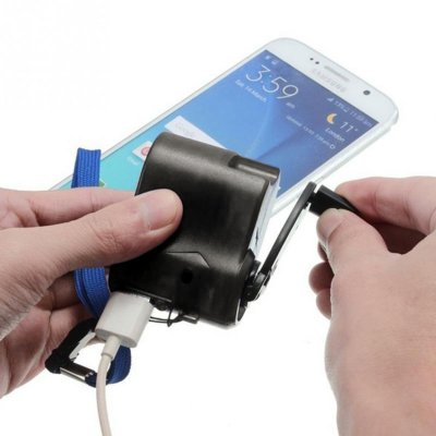 Emergency USB Charger – Hand-powered