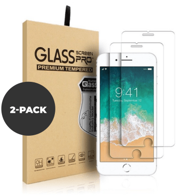 2 pack – Tempered glass for iPhone 6/7/8 Plus